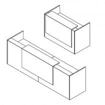 Z2 balie rechthoek met 1 opzetelement compleet